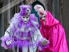 2 Masken Karneval in Venedig