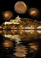 Feuerwerk über Ibiza
