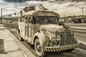 old Bus Yucca Valley